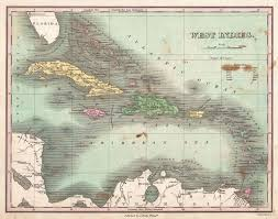 Caribbean Maps by File 1818 Pinkerton Map Of The West Indies Antilles And