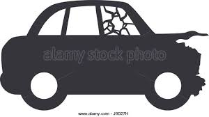 wrecked car clipart crash stock vector images alamy