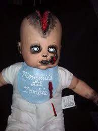 Scary Baby Doll Halloween Costume Impaled Mouth Zombie Baby Ebay Creepy Dolls