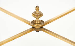 maison bagues brass art deco coffee table jean marc fray