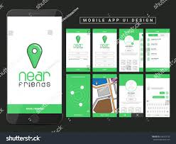 Map Me Home Material Design Ui Ux Gui Screens Stock Vector 439525732