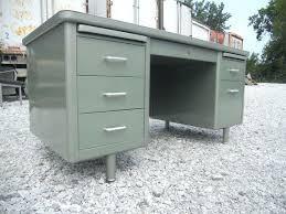 Steel Office Desks Office Desk Steel Office Desks Vintage Metallic Green Metal