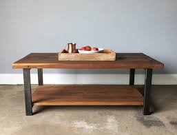 oak end tables and coffee tables reclaimed wood oak coffee table lower shelf metal legs what
