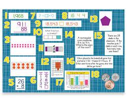 3rd grade math spiral review bulletin board kit