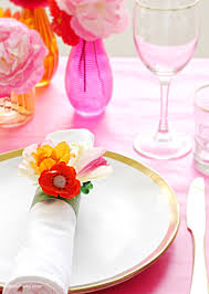 Floral Food by Diy Floral Napkin Rings Party Ideas Party Printables