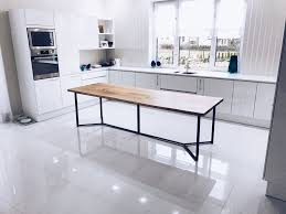 Industrial Kitchen Table Furniture Solid Live Edge Oak Industrial Dining Table Cosywood Co Uk