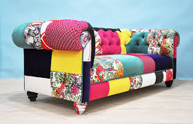 Chesterfield Patchwork Sofa Floral Wing Patchwork Sofa Chesterfield Patchwork And Funky