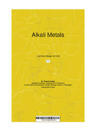 alkali metals by pramod kothari issuu