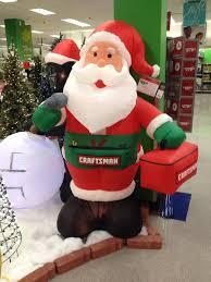 sears craftsman santa clause lawn decoration 2014