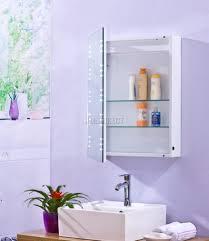 Illuminated Mirror Bathroom Cabinets Led Illuminated Bathroom Mirror With Shelf Demister Shaver Sensor