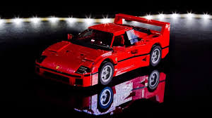 lego ferrari lego ferrari f40 comes to life in less than a minute video