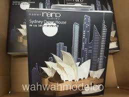 kawada paper nano puzzle sydney opera house pn 115 wah wah model