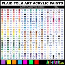 plaid folk art acrylic paint colors plaid folk art paint colors