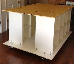 ikea hackers quilters table with storage build me pinterest
