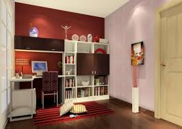 easy on the eye accent wall color combination on study room design