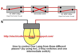 2 way switch how to control one lamp from three different places