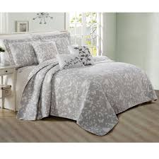 Quilts And Coverlets On Sale Serenta 6 Piece Bird Song Printed Microfiber Quilts Coverlet Set