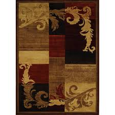 Orange And Brown Area Rugs Home Dynamix Catalina Olefin Rug Brown Red Walmart Com