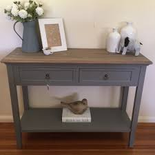 100cm 2 drawer console french provincial grey hall table tv stand