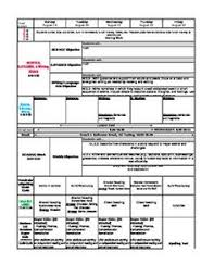 k 5 common core lesson plan template with all reading and math