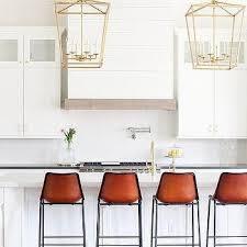 cognac leather counter stools design ideas