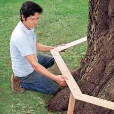 Bench Around Tree Plans How To Build A Wrap Around Tree Bench Diy Cozy Home