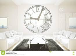 white room with clock window stock illustration image 73859032