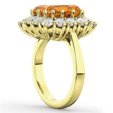bjs wedding rings cut citrine diamond di ring 14k yellow gold 5 68ct