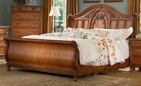 Oak Sleigh Bed Amazing Sleigh Bed King For A Traditional Style Home Design