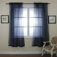 refacing country style interior with dark royal blue sheer