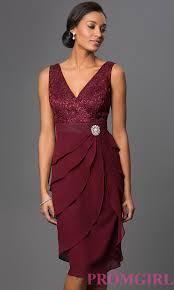 burgundy dress for wedding guest sleeveless knee length dress with jacket promgirl