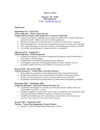 Special Education Resume Examples Claims Adjuster Resume Resume For Your Job Application