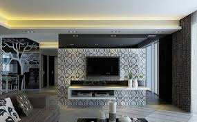 Design Of Tv Cabinet In Living Room Simple Living Room With Tv Simple Three Wall Paint Decoration Of