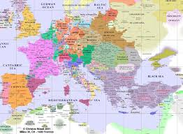 World Map Scotland by Europe From 400 Ad To 1700 Ad