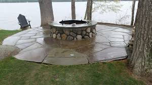 How To Make A Rock Patio by Rock Fire Pit Crafts Home