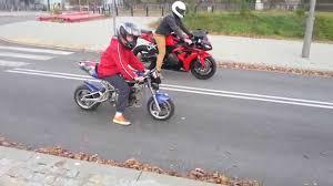 honda bike rr midi bike 50 ccm vs honda cbr 1000 rr race youtube