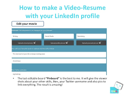 Best Video Resume by How To Make A Video Resume With Your Linked In Profile Resu Me Tool