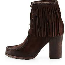 Brown Fringe Ankle Boots Best 25 Moccasin Ankle Boots Ideas On Pinterest Moccasins