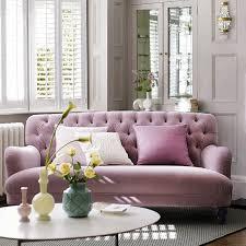 bailey u0027 pink velvet sofa by dfs elle decoration uk