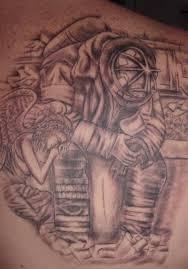 fireman tattoogirl painting