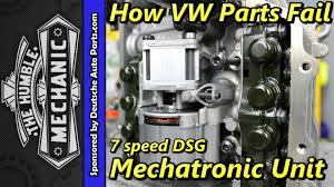 how vw parts fail 7 speed dsg mechatronic unit youtube