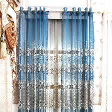 Navy Blue Sheer Curtains Sheer Blue Curtains High End Polyester Blue Embossed Floral Sheer