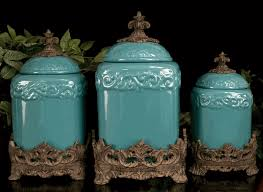 kitchen ceramic canister sets turquoise large ceramic canister set
