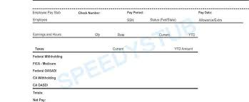 payroll stub template free download a free pay stub template for