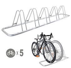 amazon com 5 bike bicycle floor parking rack storage stand by