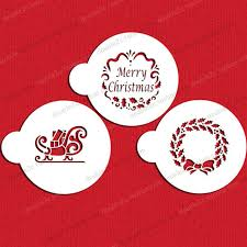 fondant cookie stencils christmas cookie plastic stencils 5cm 3pcs
