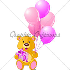 teddy balloons teddy with balloons gl stock images