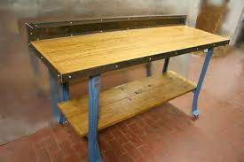 workbenches u2014 mid century industrial primitive furnishings