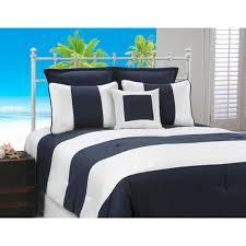 Navy Stripe Comforter Set Cabana Stripe Navy And White Nautical 4 Piece Comforter Set Free