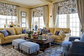 Curtains For Yellow Living Room Decor Gorgeous Waverly Curtains In Living Room Traditional With Couch